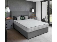 BRAND NEW 4FT 6 LUXURY DOUBLE DIVAN SETS COMPLETE MATTRESS INCLUDED CAN DELIVER TODAY