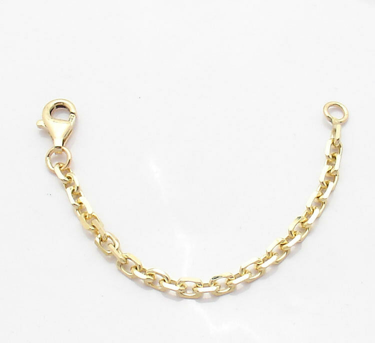 3mm Heavy Duty Solid Cable Chain Necklace Extender Real 14K Yellow Gold