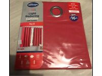 Light reducing curtains with eyelets, red 46x54