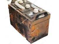 Old car batteries wanted