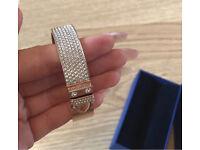 Gold Swarovski bangle / bracelet worn once