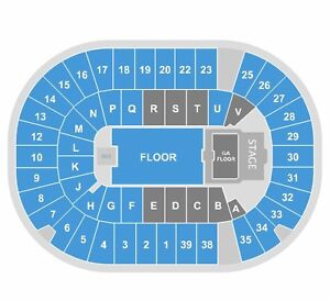 2 Eric Church tickets Section V