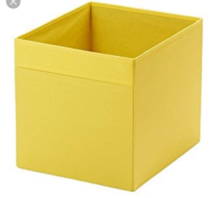 FREE  IKEA DRONA   2 Yellow Storage Boxes