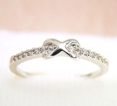 Tiny Infinity Ring Crystal Jewelry Gold Silver bridesmaid Wedding Best Friend