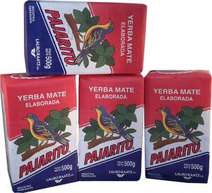 PAJARITO Tradicional - Yerba Mate Tee aus Paraguay - 4 x 500g (2 Kg)
