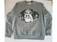 Mens USED Givenchy Rottweiler Sweatshirt - Small