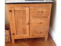 Enamel-top, free standing cupboard for sale