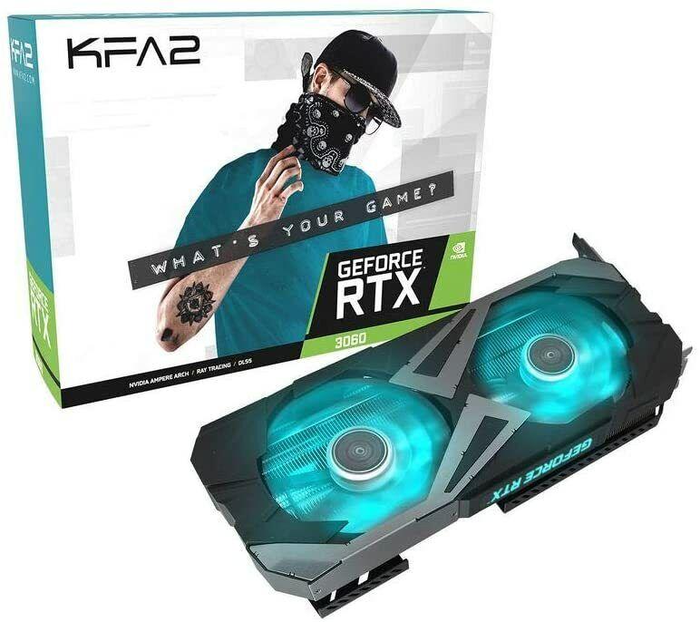 Grafikkarte NVIDIA KFA2 GeForce RTX 3060 EX 1-Click OC 12GB GDDR6 DisplayPort