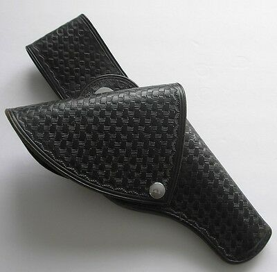 """vintage C.A. HOFFMAN & SON Trooper flap holster with swivel for 4"""" bbl .38, .357"""