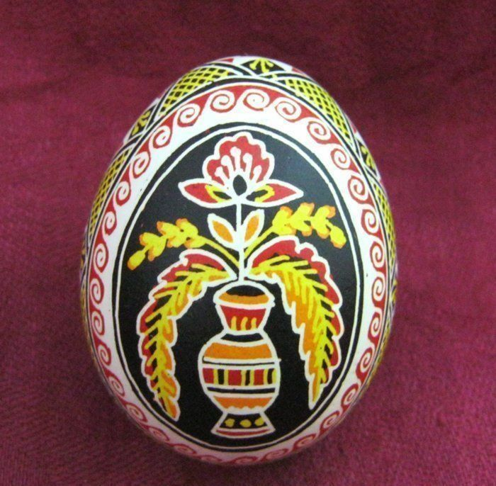 Easter decorative egg Hand painted nice PYSANK PISANKA SUPER QUALITY