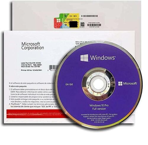 Microsoft Windows 10Professional Full Version 64Bit DVD With Office 2013