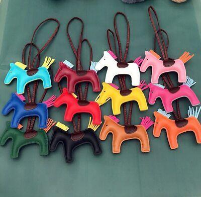 Handbag Horse Pendant Handmade Leather Pony Purse Key Chain Women Bag Charm Ring