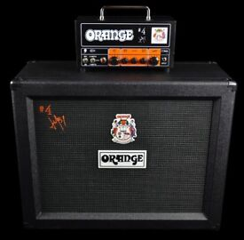 Orange Jim root tiny terror amplifier and matching orange cab 2 x 12 - perfect condition