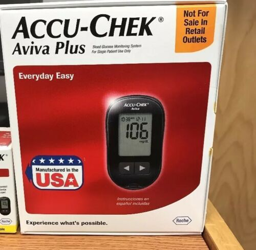 Accu-Chek Aviva Plus Blood Glucose Meter With Kit & Free Lan