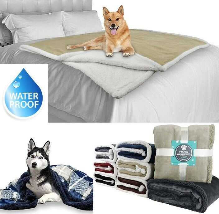 WATERPROOF Dog Blanket for Large XL Dogs Bed Couch Protect F