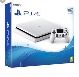 Ps4 slimline - white glacier . Boxed . No controller. .