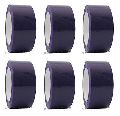 2 X 110 Yd Purple 6 Rolls Packaging Packing Tape Carton Sealing - Free Shipping