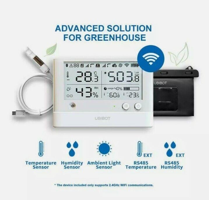 UbiBot WS1 Pro Temperature Humidity Ambient light Greenhouse Monitor Data Logger
