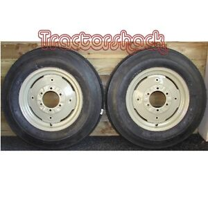 3 Rib 750 X 16 Tractor Front Wheels Tyres & Tubes x 2 in Primer *