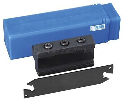 Set Parting Tool Blade And Holder For External Cutting Cut-off Lathe Fervi T089