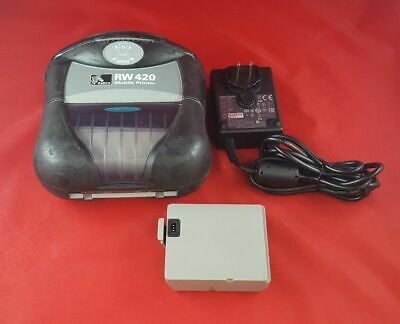 Zebra RW420 Mobile Label Printer with Battery & Charger R4A-0U0A010N-10 for sale  Avon
