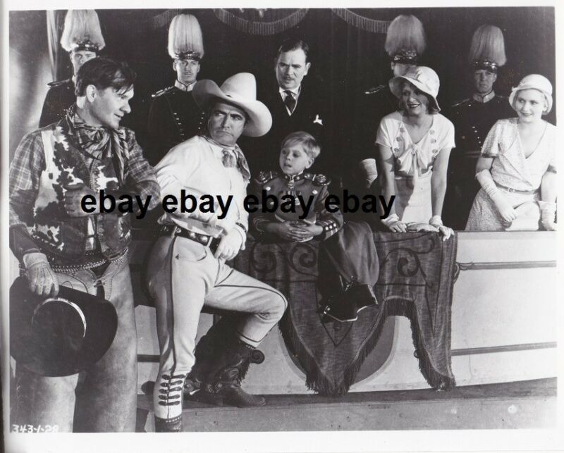 Photo Mickey Rooney & Tom Mix Western Circa 1930 Re-Print # 2