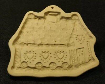 GINGERBREAD HOUSE Brown Bag Cookie Art 1993 Hill Design Cut Cookie Mold CUTE FUN