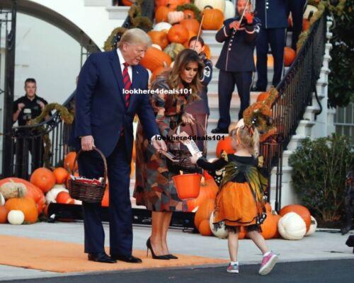 President Trump Photo 4x6 Melania Halloween 2019 White House Trick or Treat