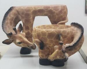 Support à plante en forme de girafe