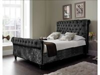 Velvet Bed plus mattress and free delivery