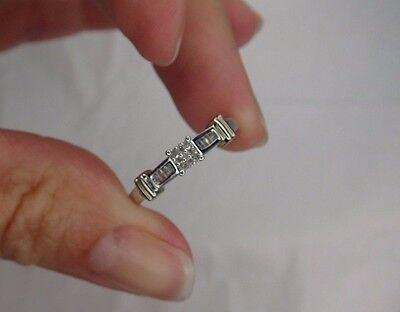 10K Diamond engagement ring size 6.75 White Gold