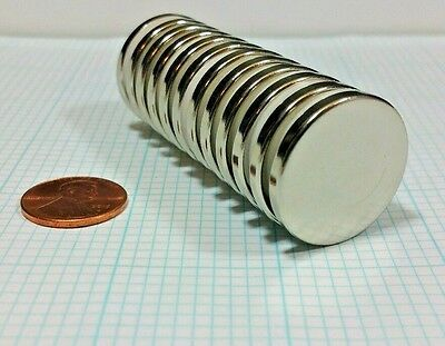 12 Neodymium N52 Disc Magnets. Super Strong Rare Earth. 1 X 18 Craft Neo
