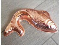Vintage Copper Fish Mould