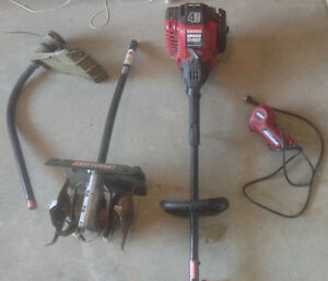 Craftsman 4 cycle Weedwacker/Tiller/Elect Starter