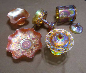 Carnival glass assortment