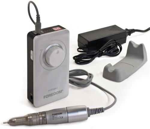 FOREDOM PORTABLE MICROMOTOR KIT K.1030, RECHARGEABLE, BRUSH-TYPE