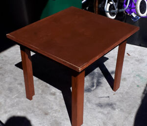 Movie sale two wooden end tables