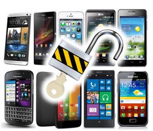 Unlocking Débloquage Samsung iPhone Lg A partir de 19$