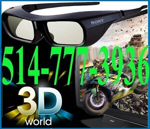 Lunettes 3D Bluetooth SONY TDG-BT500A BT400A Active Glasses