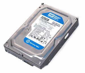 Western Digital Hard-Drives : 320 GB  ,160 GB , 250GB