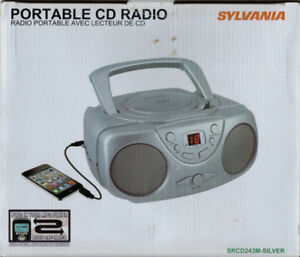 *NEW*Sylvania Compact CD Stereo Music Player Boombox-AM/FM Radio
