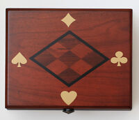 Wooden Card Box - OPENED, NEW