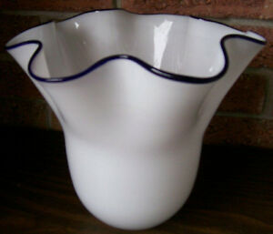 REDUCED! 2 White Glass Vases/Accent Pieces