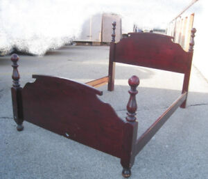 Wood Queen Bed frame, cherry color,delivery extra $$,read inside