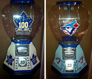 BLUE JAYS-LEAFS-SHELL-TEXACO-COCA COLA-PEPSI-GUMBALL MACHINE