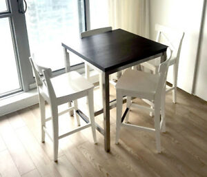 Ikea utby table buy or sell dining table sets in ontario ikea white ingolf bar chairs discontinued utby bar table watchthetrailerfo