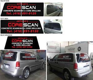 Cutout Vinyl Graphics (Vinyl Stickers / Decals) minivan vehicles
