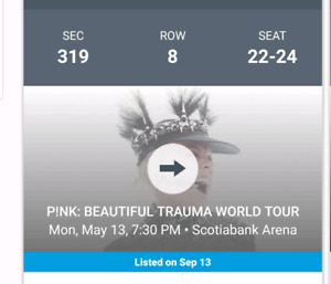 P!nk Tickets for sale