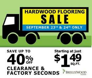 Hardwood Flooring SALE - 2 days only - Sept 23 & 24