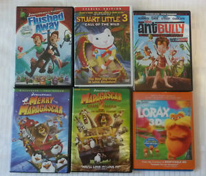 6 Childrens DVD's - One is Blue Ray